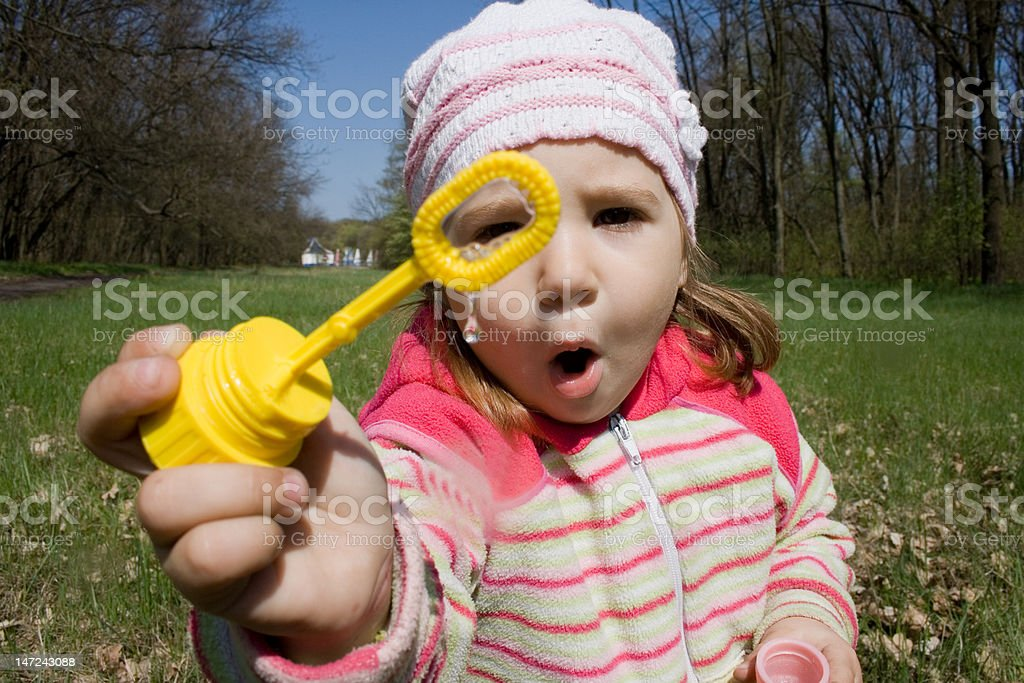 Kind und Blasen Lizenzfreies stock-foto