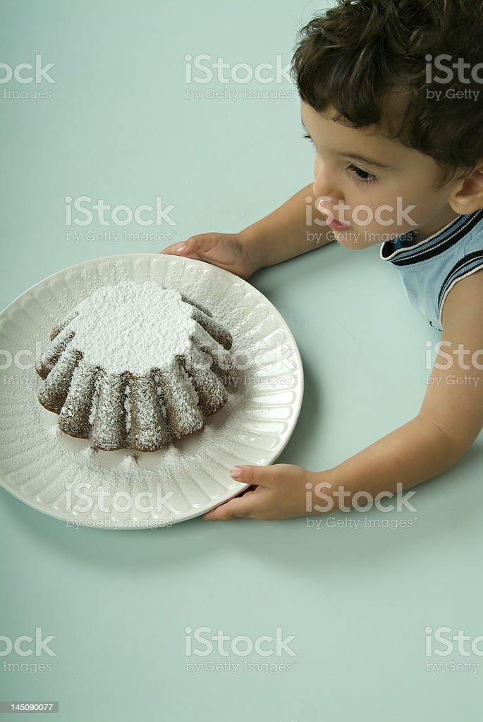 child and cake royalty-free stock photo