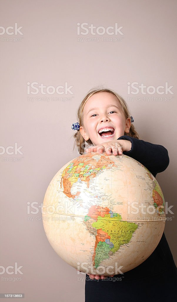 Child and Earth royalty-free stock photo