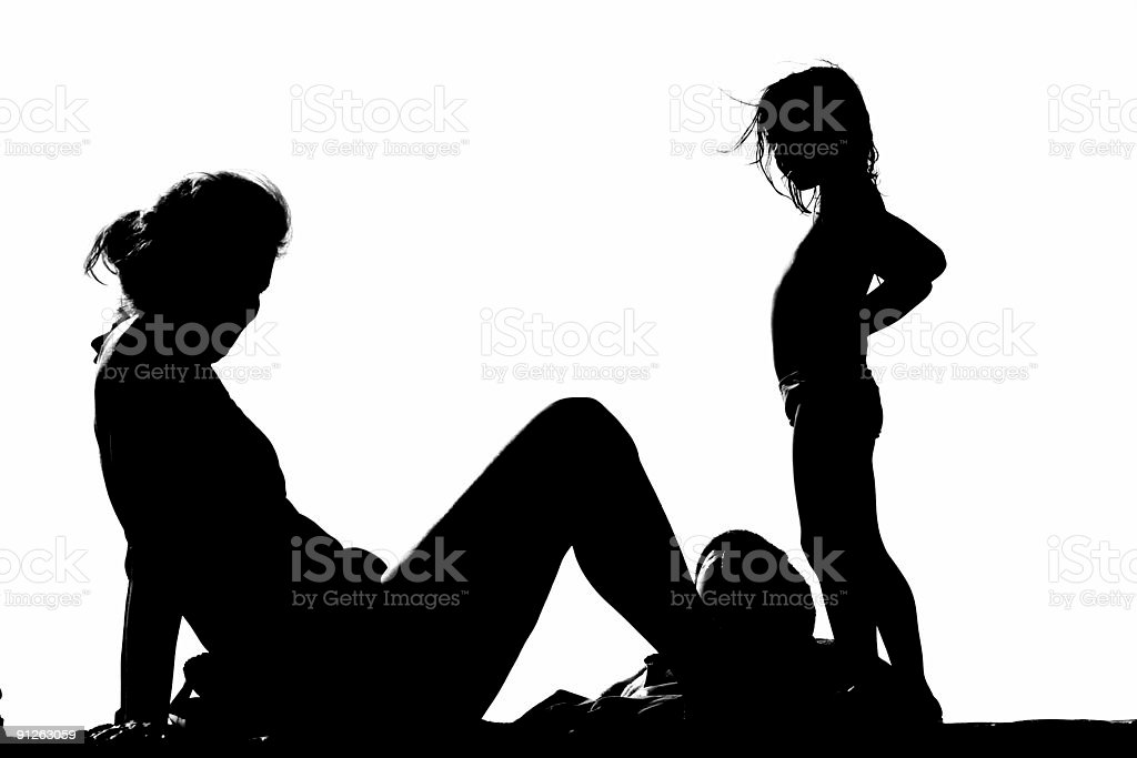 child and mother royalty-free stock photo