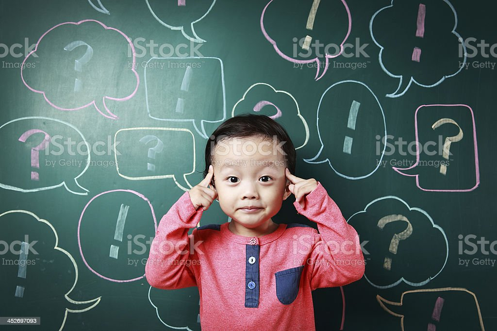 child and speech bubbles royalty-free stock photo