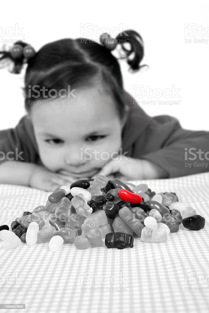 Child and sugar royalty-free stock photo