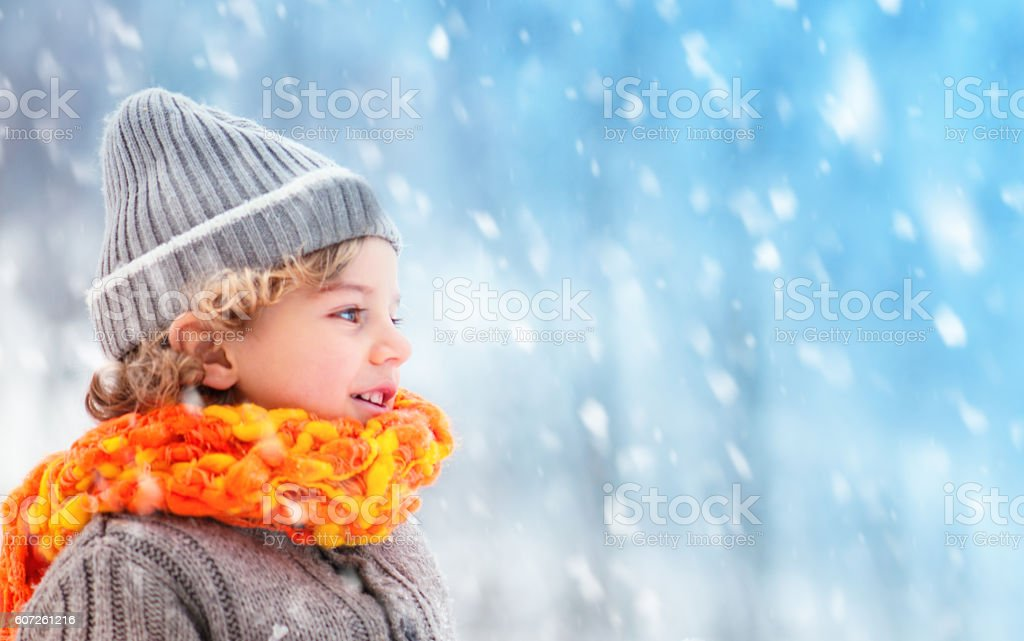 Child and Winter stock photo