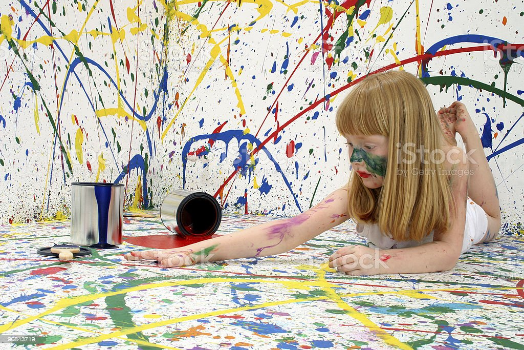 Child Artist royalty-free stock photo