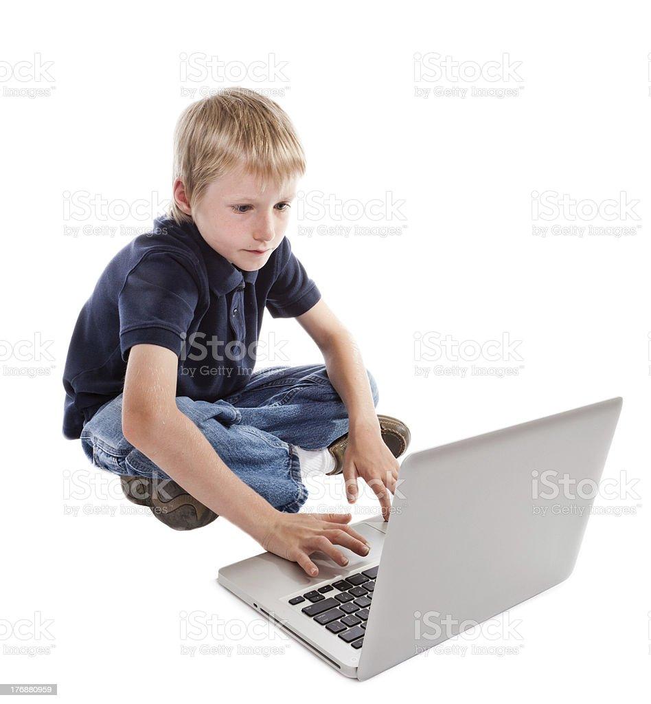 Child at Computer stock photo