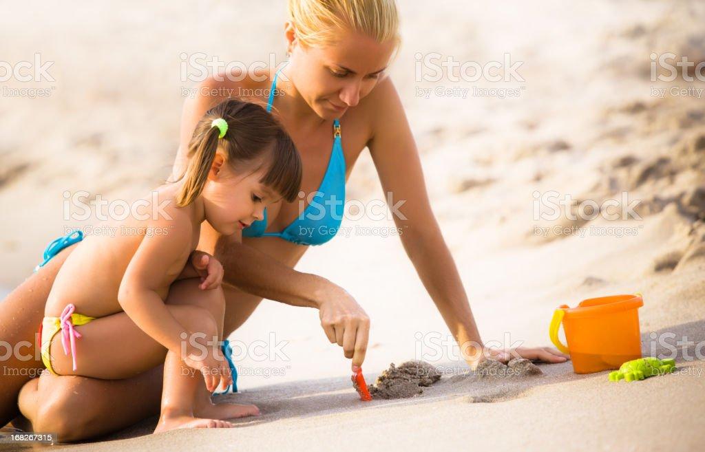 Child at seashore royalty-free stock photo