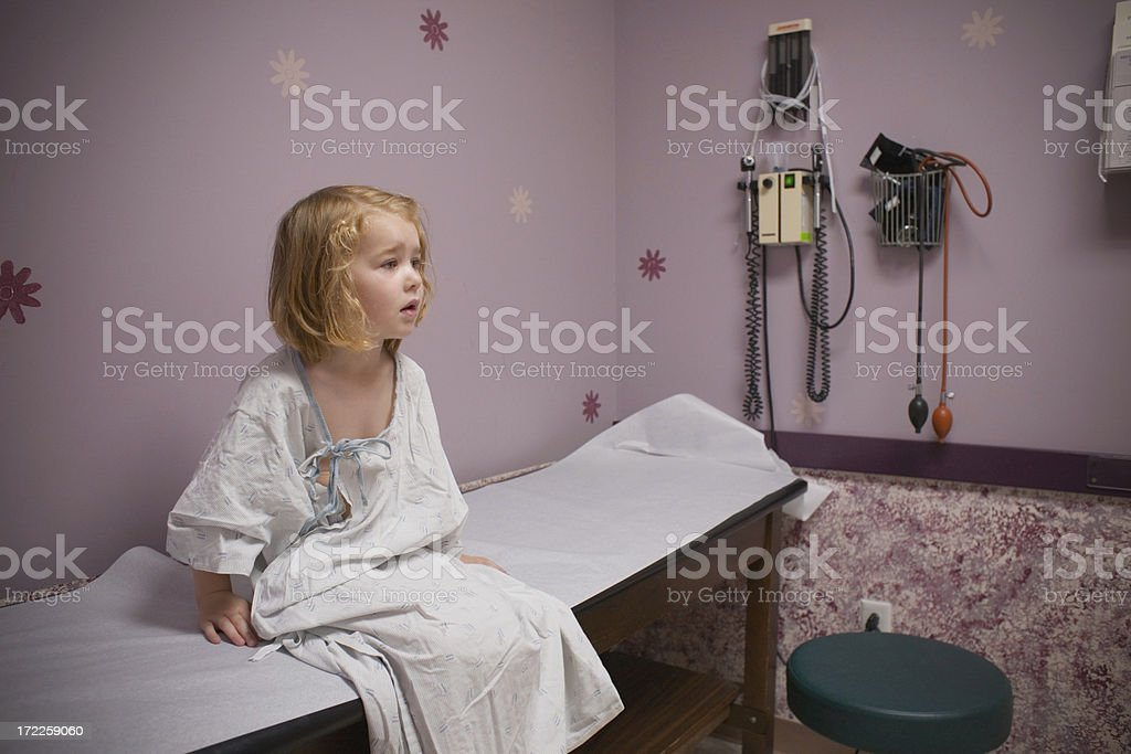 Child at the Doctor's stock photo