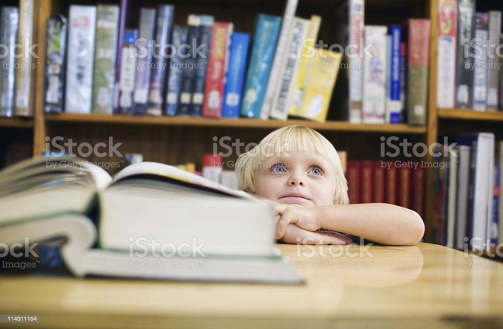 Child at the library royalty-free stock photo