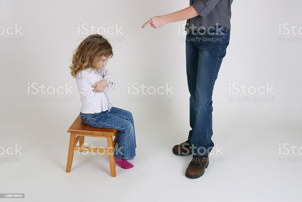 Child being Scolded stock photo