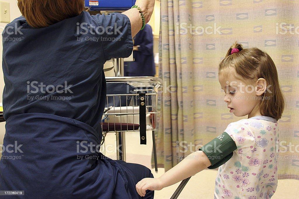 Child Blood Pressure Check stock photo