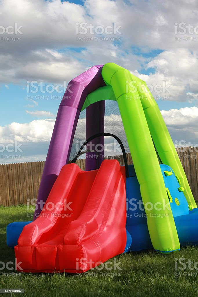 Child Bounce House royalty-free stock photo