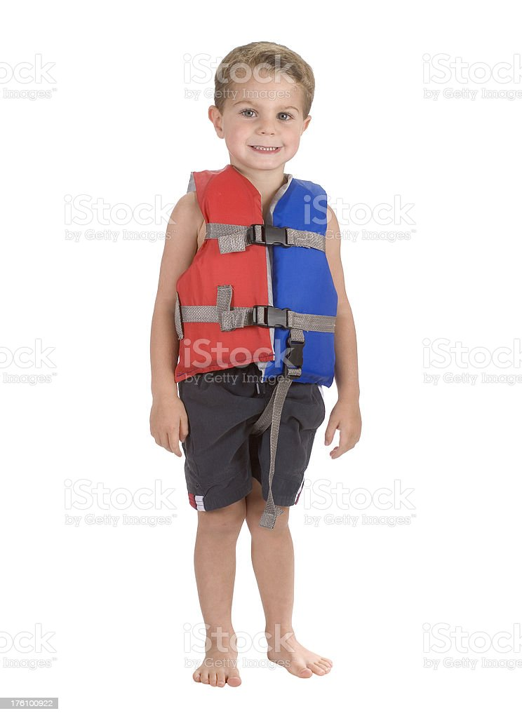 Child / Boy In Life Vest / Jacket royalty-free stock photo