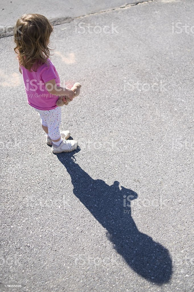 Child Casting a Shadow stock photo