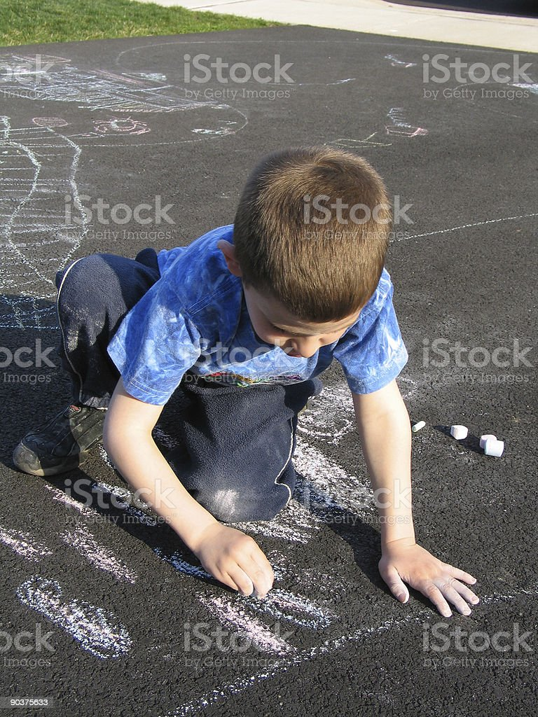 Child Chalking royalty-free stock photo