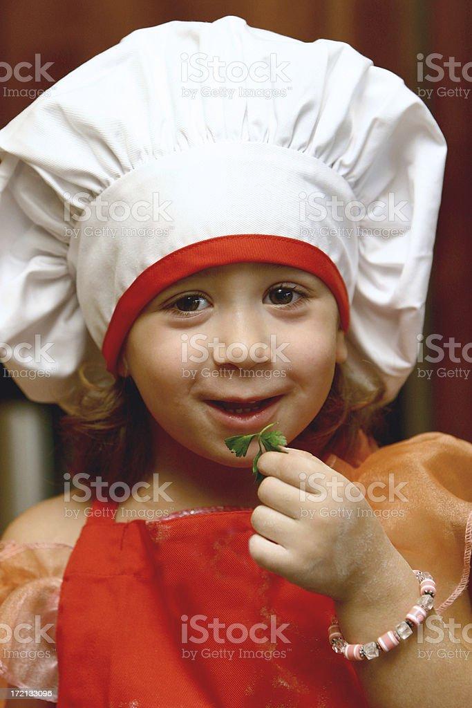 Bambino Chef foto stock royalty-free