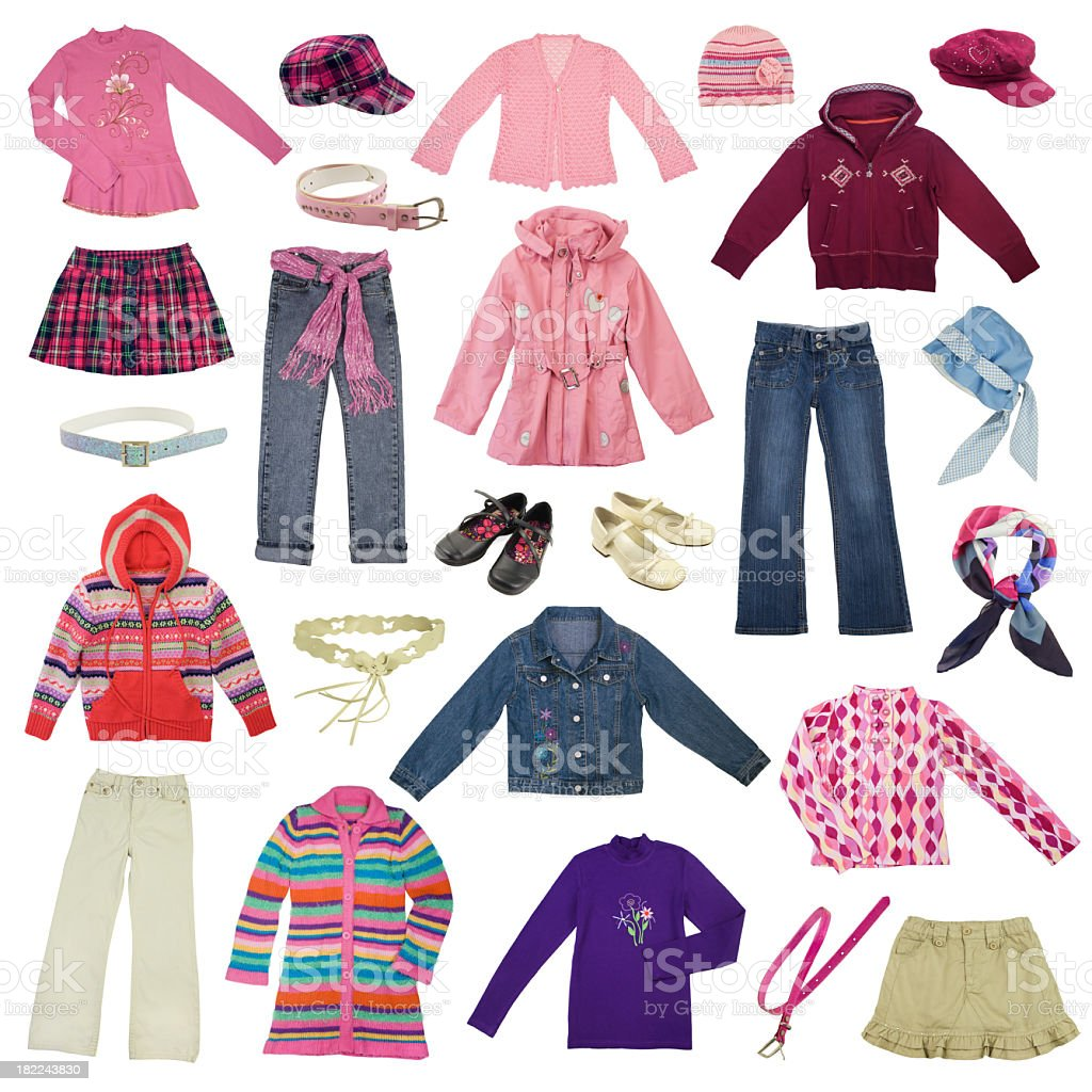 Child clothes stock photo
