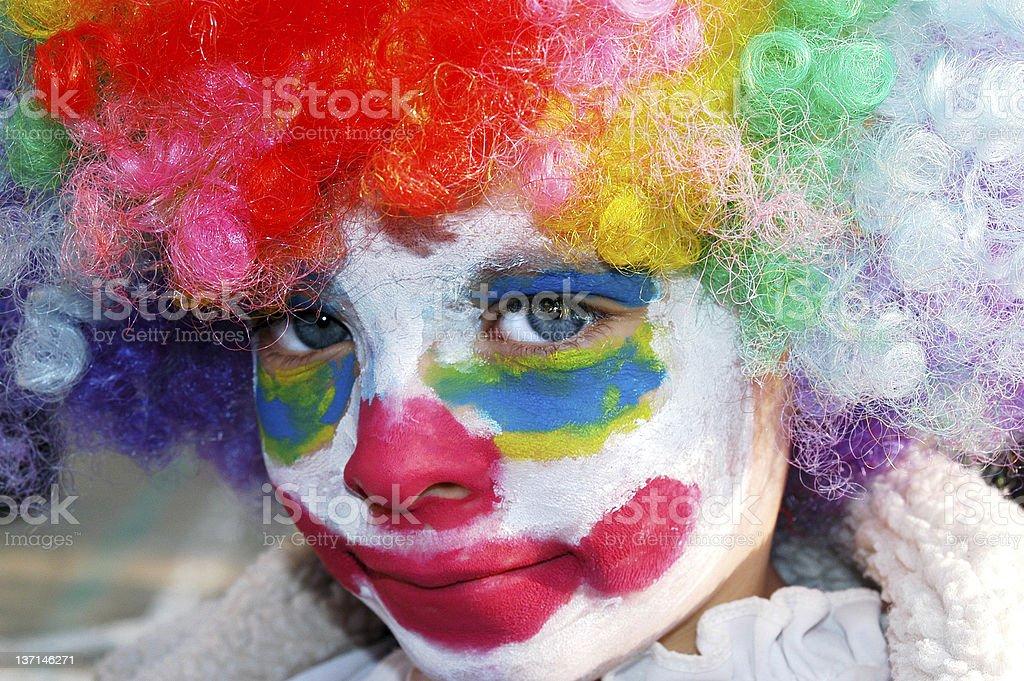Child Clown royalty-free stock photo