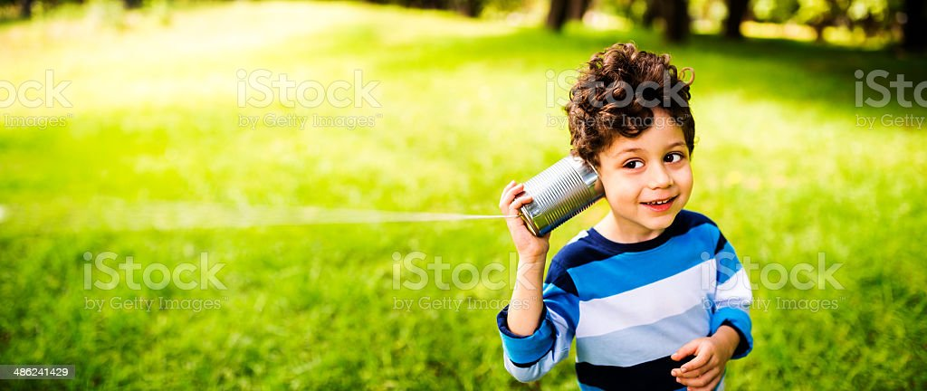 Child communication concept stock photo