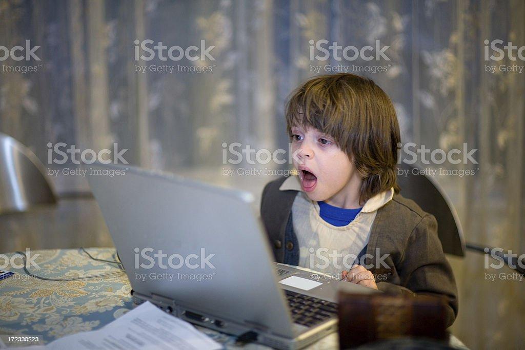 Child Computer Entertainment royalty-free stock photo