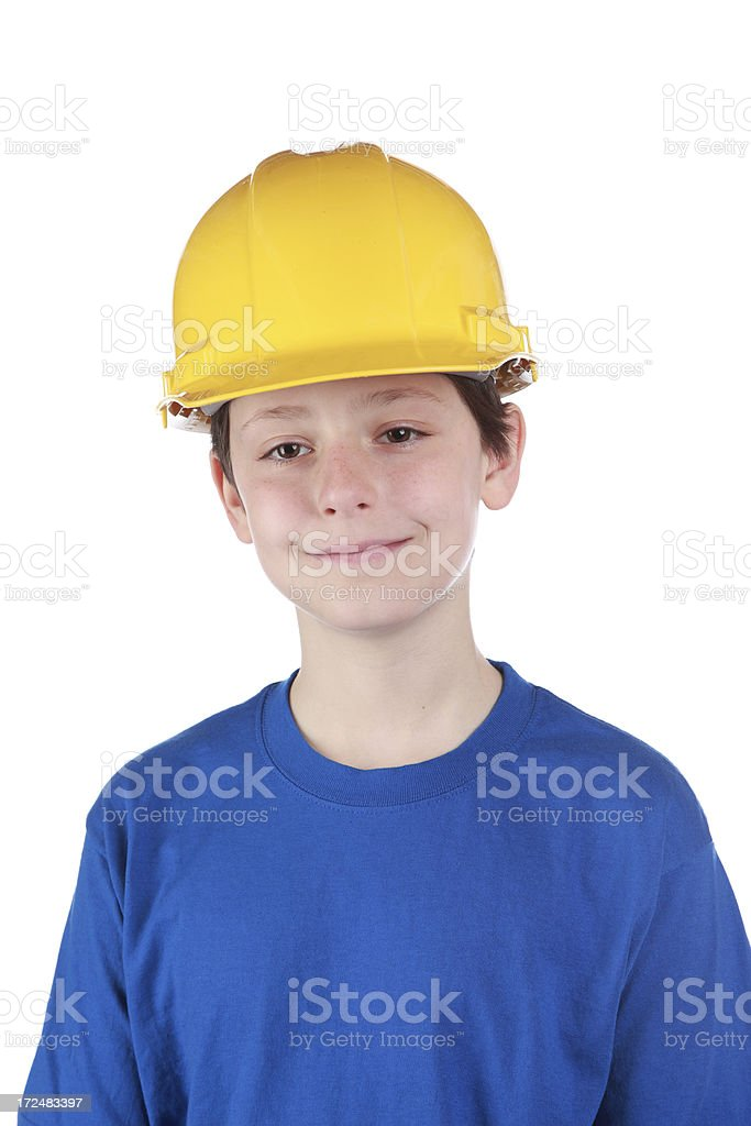 Child Construction Worker royalty-free stock photo