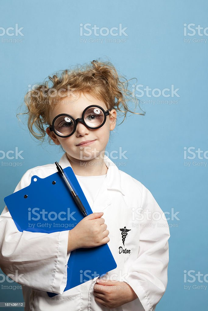 Child Doctor with Clipboard royalty-free stock photo