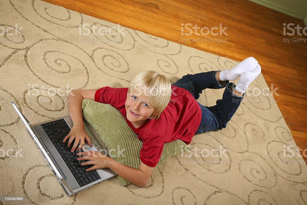 child doing homework royalty-free stock photo