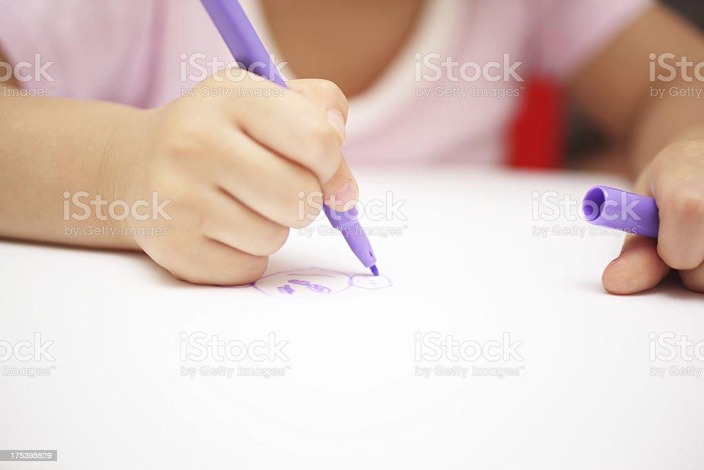 Child Drawing stock photo
