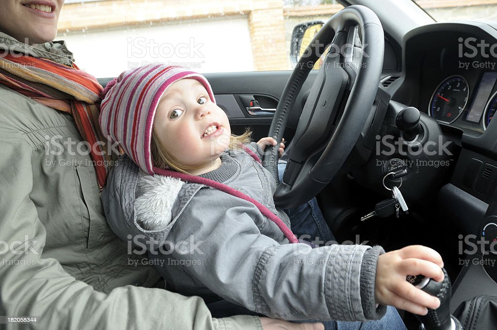 Child driving stock photo