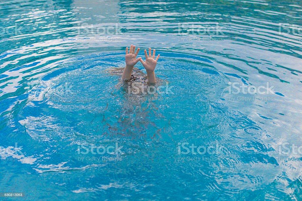 Child drowning stock photo