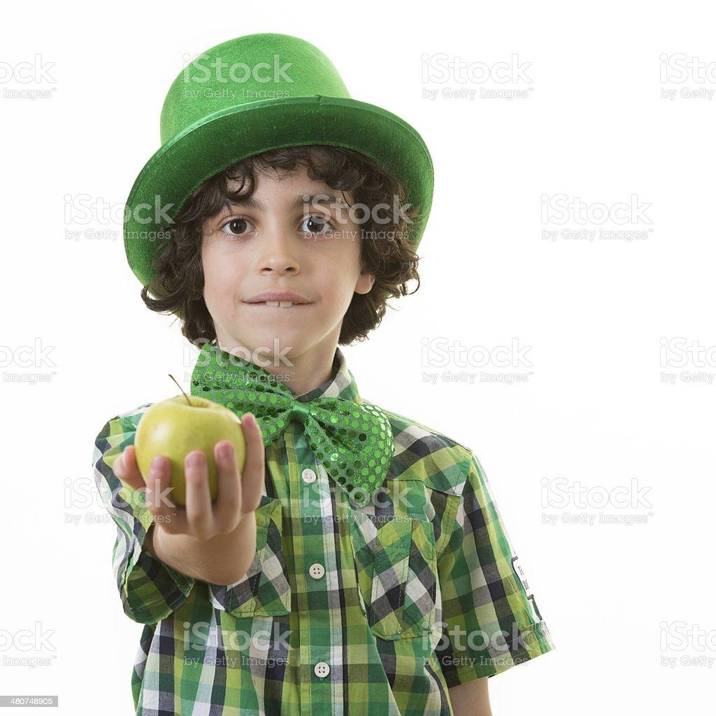 Child during Saint Patrick Celebrations royalty-free stock photo