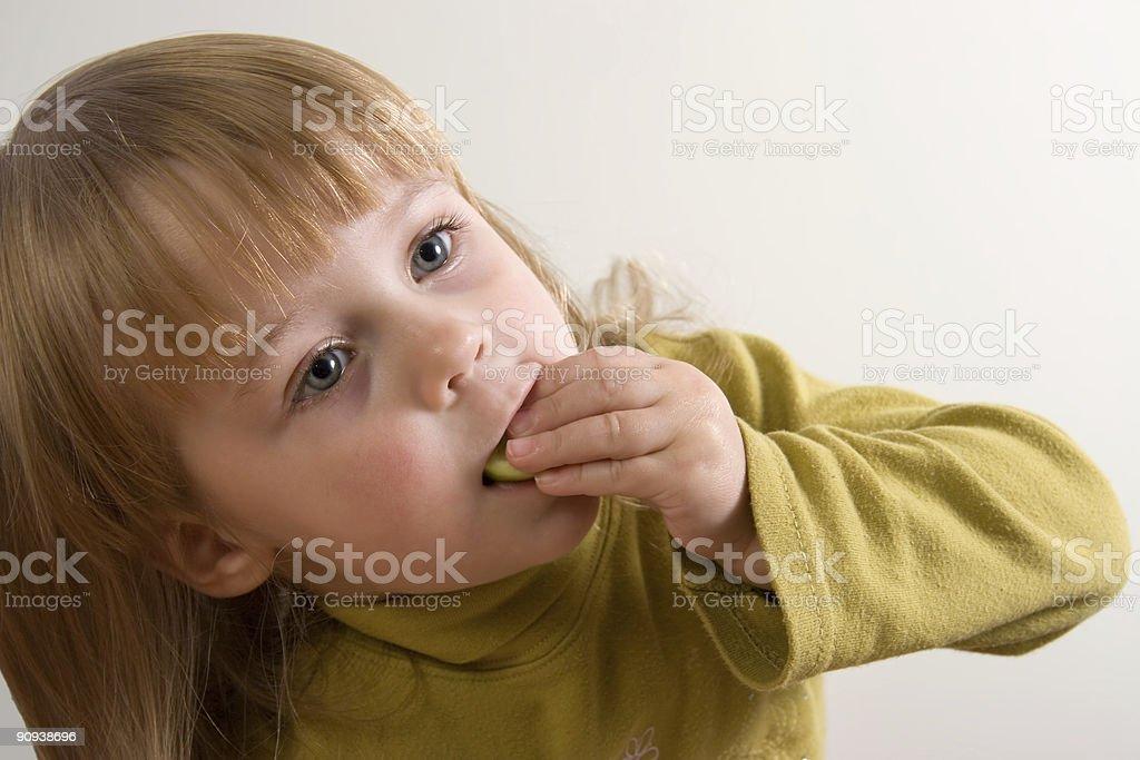 child eating royalty-free stock photo