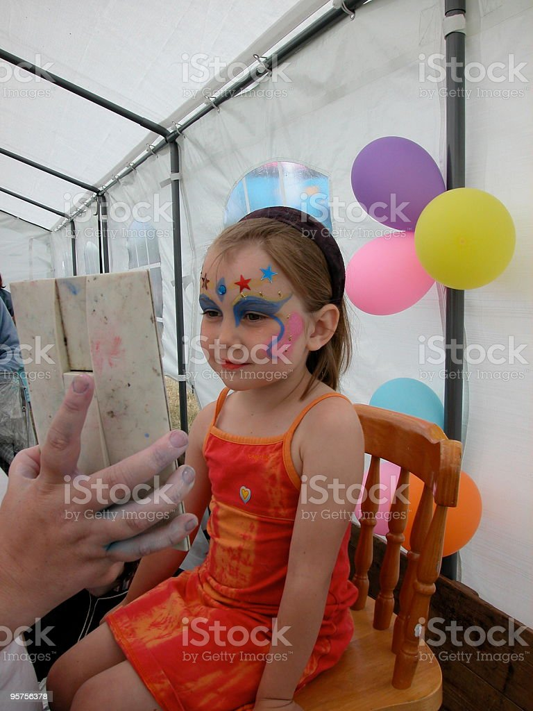 Child Face painting stock photo