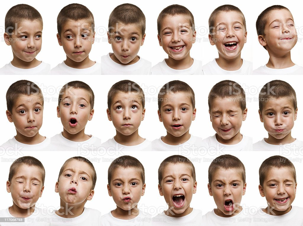 Child faces stock photo