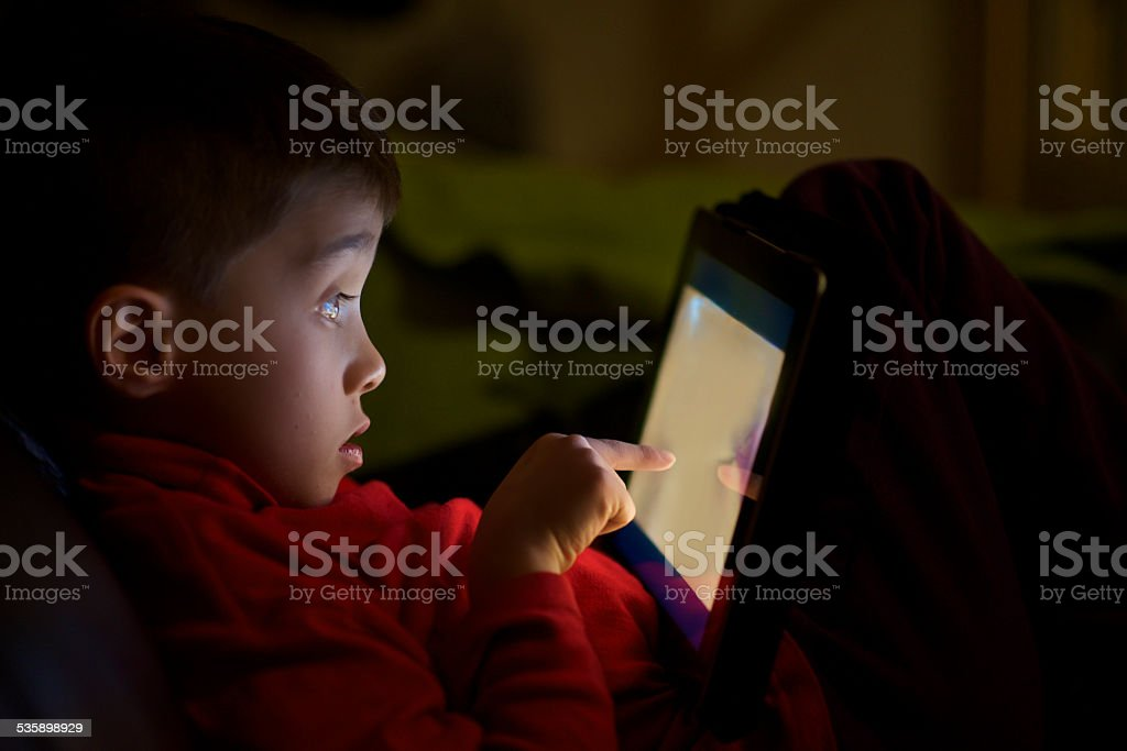 child find bad content on the Internet stock photo