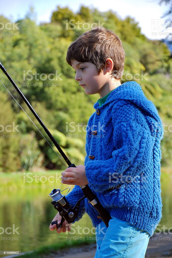 Child Fishing stock photo