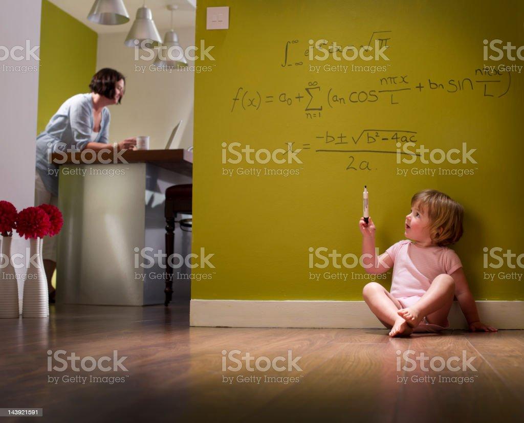 child genius stock photo