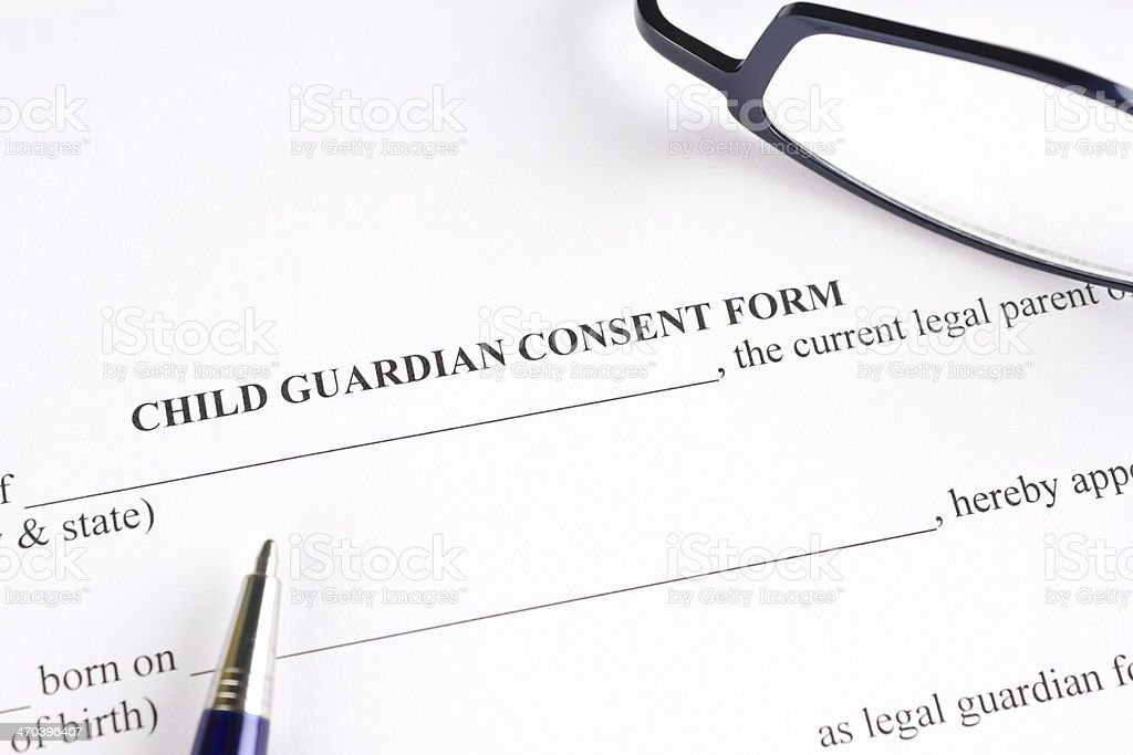 Child Guardian Consent Form Stock Photo   Istock