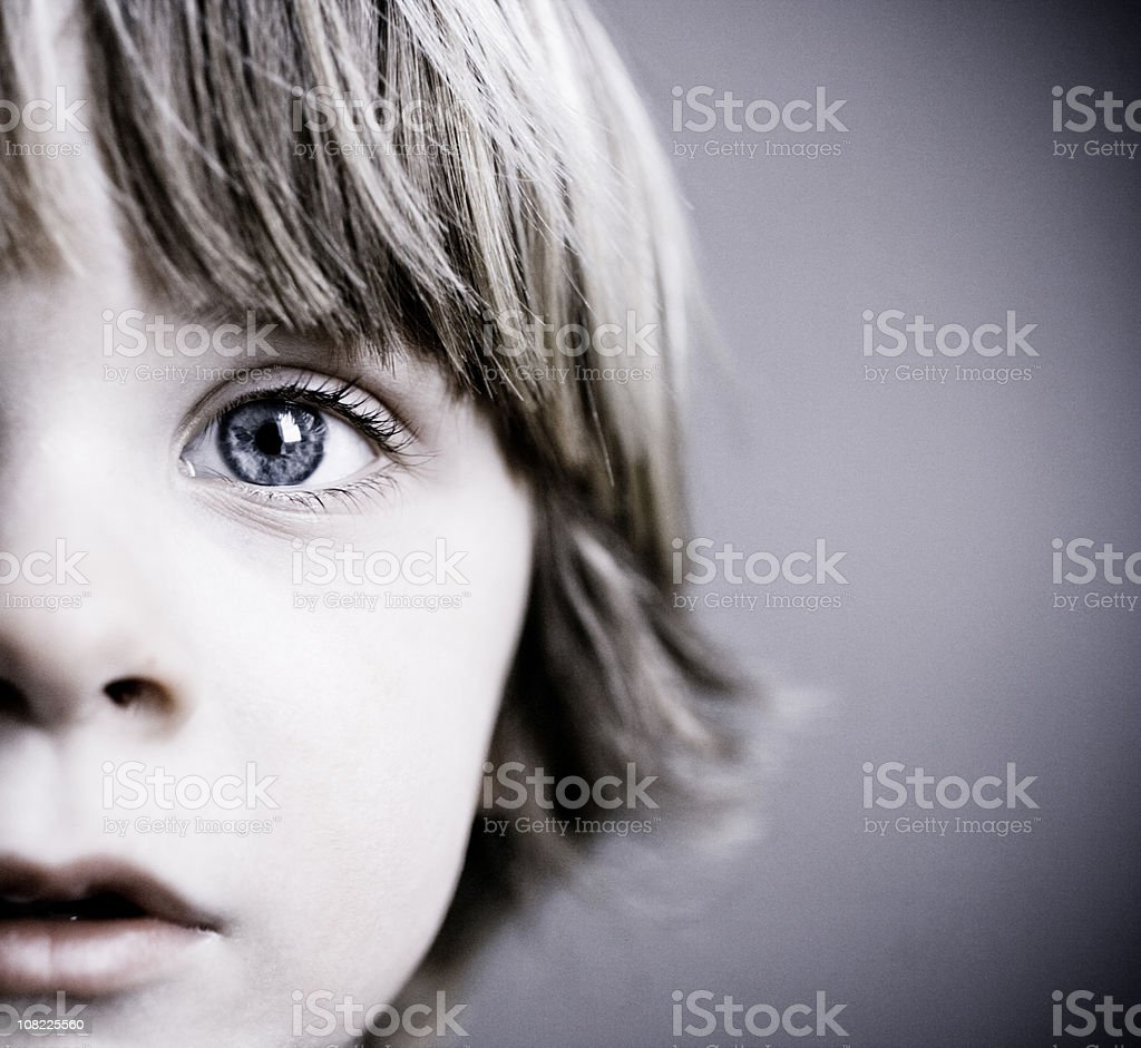 Child Half face royalty-free stock photo