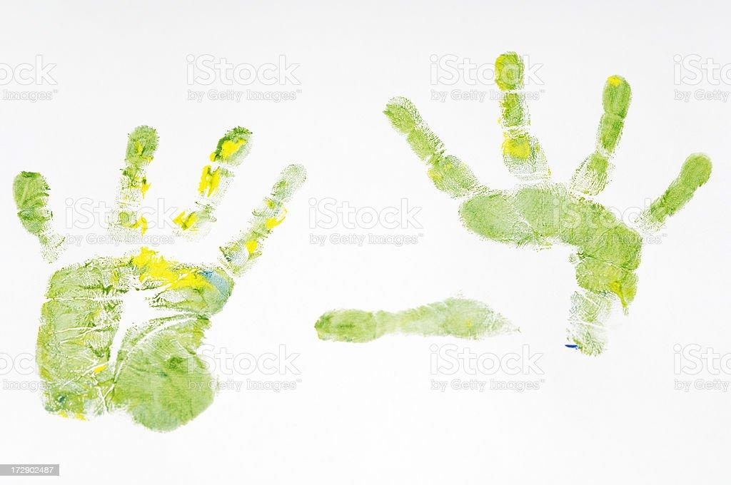 Child hand prints royalty-free stock photo