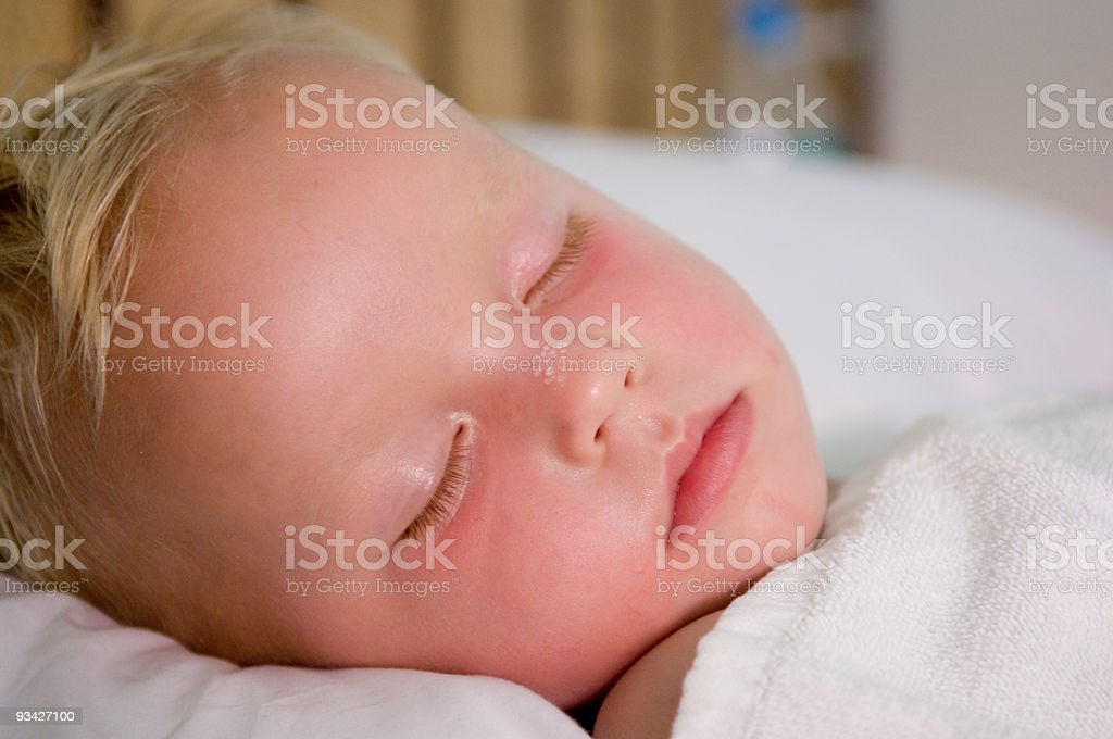 Child having a Temperature royalty-free stock photo