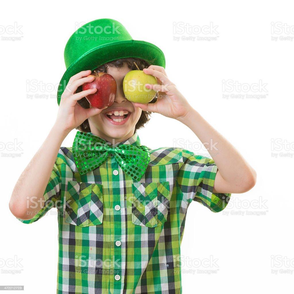 Child having Fun in Saint Patrick Celebration royalty-free stock photo