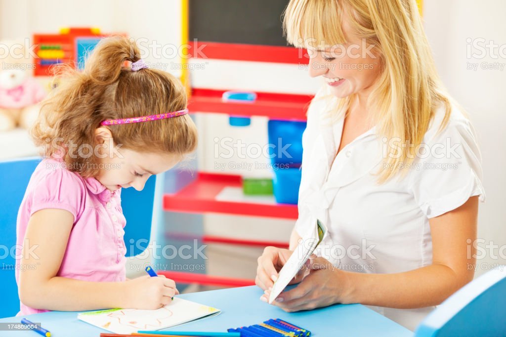 Child Having Speech Therapy. royalty-free stock photo