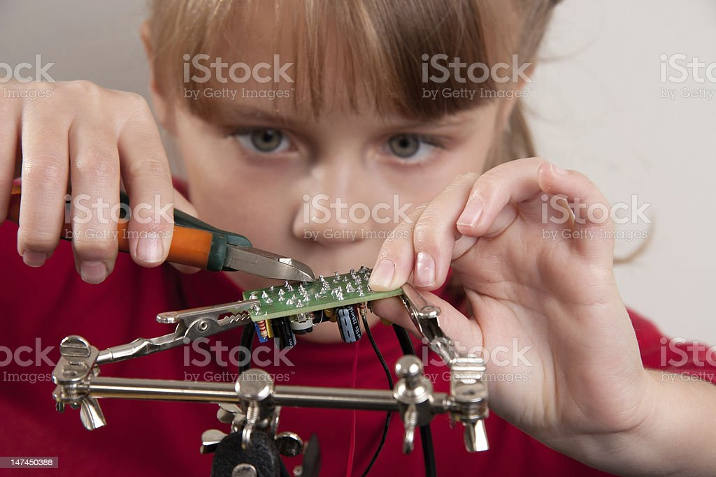 Child hobby stock photo
