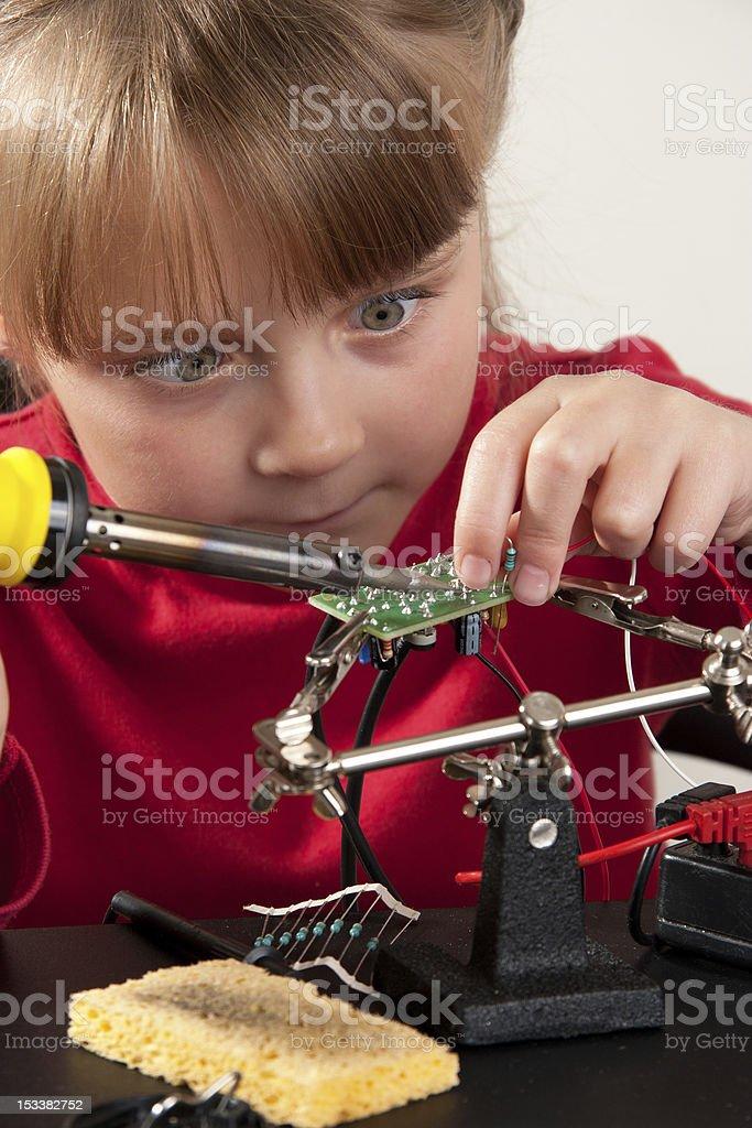 Child hobby stock photo
