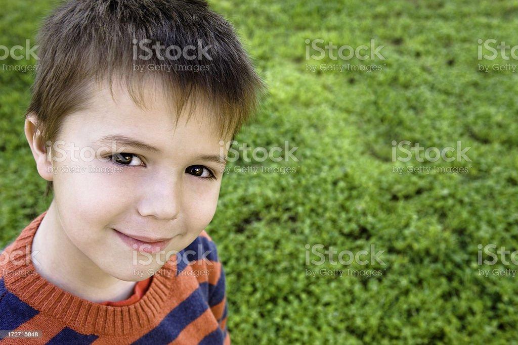Child hopeful radiating that feeling royalty-free stock photo
