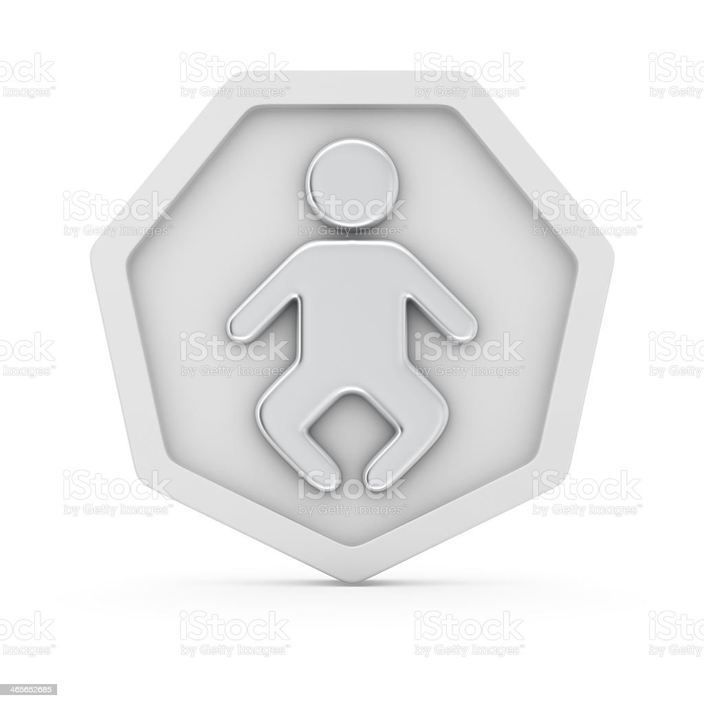 Child icon stock photo
