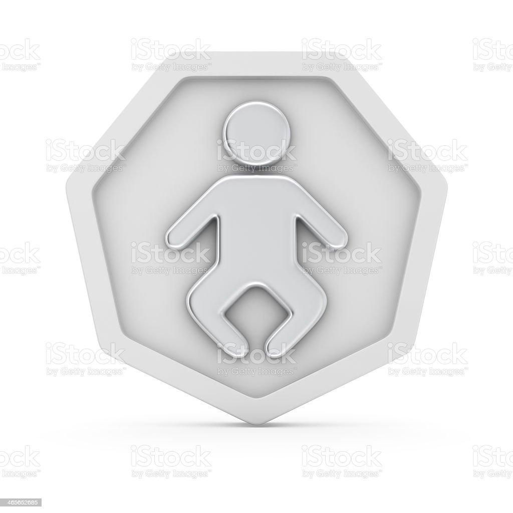 Child icon stock photo