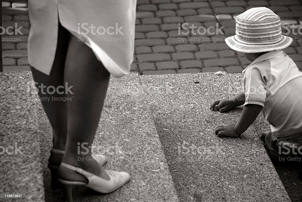 child in a big world royalty-free stock photo