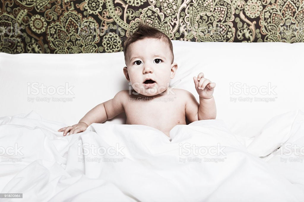 Child in Bedroom stock photo