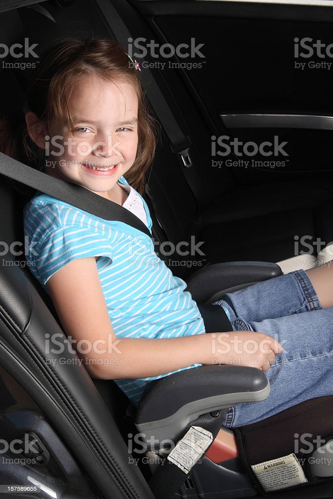 Child in Booster Seat stock photo
